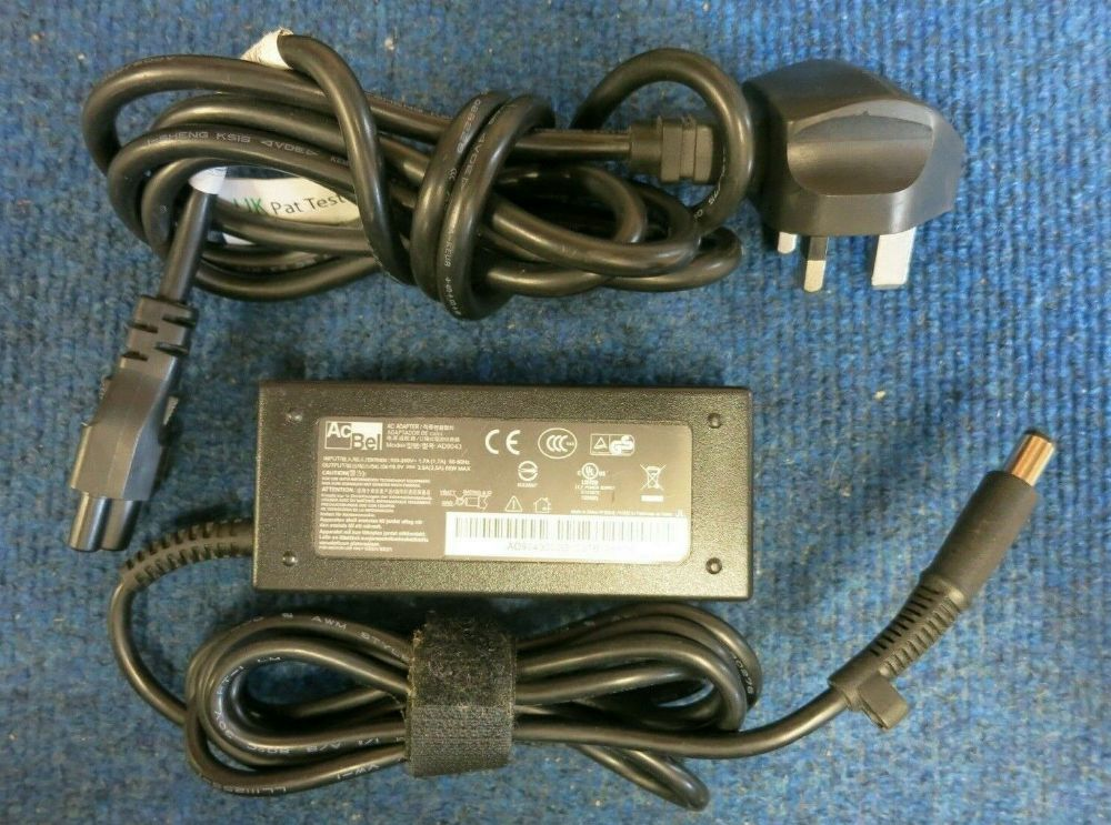 AcBel AD9043 Laptop AC Power Adapter Charger 65W 18.5V 3.5A